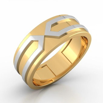 Male Wedding Bands White Gold