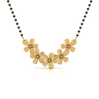 April blossom gold mangalsutra