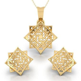 85c055b1f6055f Plush Heavy Gold Pendant Set Designs With Price