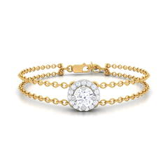 Portia diamond studded gold bracelet