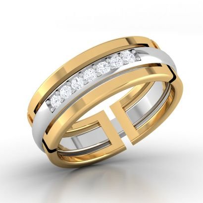 galaxy couple ring for men