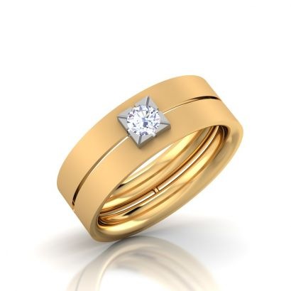 cubic solitaire band
