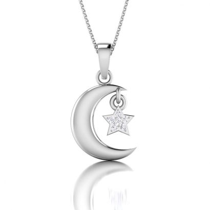 star and crescent pendant