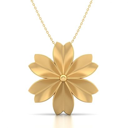 lily gold flower pendant