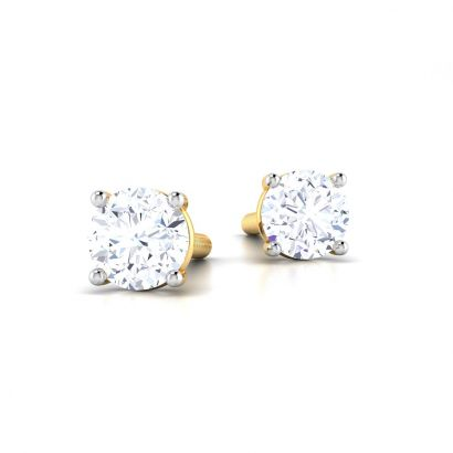 4 prong martini low height solitaire earring