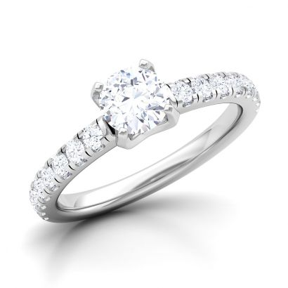 luminescent solitaire ring