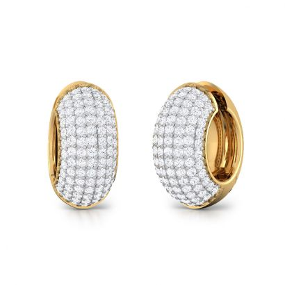 ziva hoop diamond earring