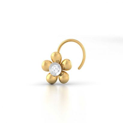 daffodil floral nose pin
