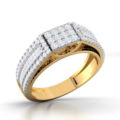 invisible diamond couple band for him