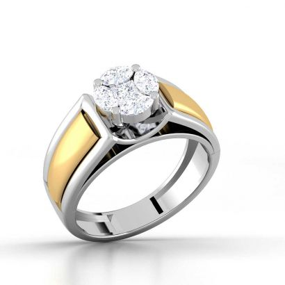 2 tone invisible solitaire ring