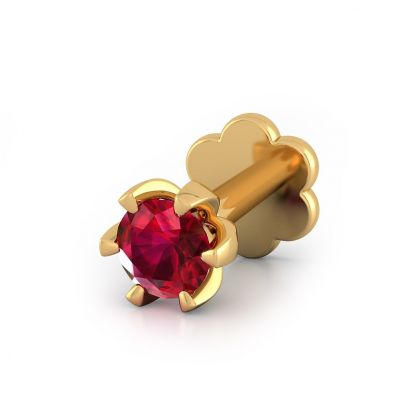 ruby south nose pin