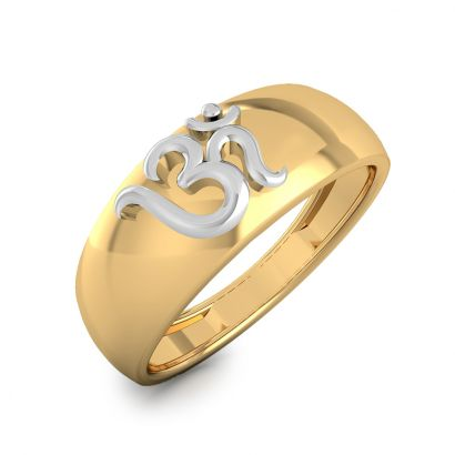 om two tone gold ring