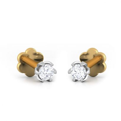 0.14 ct screw diamond earrings