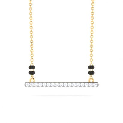 nash line diamond mangalsutra