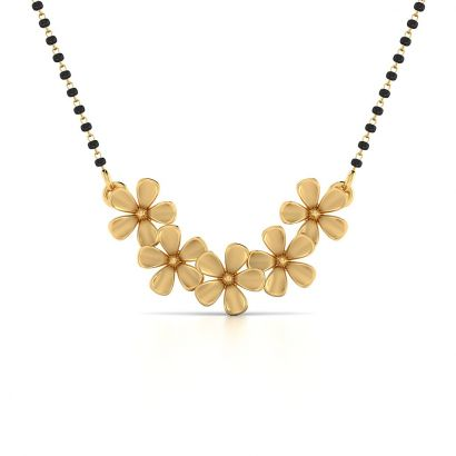April Blossom Gold Mangalsutra-Ready To Ship