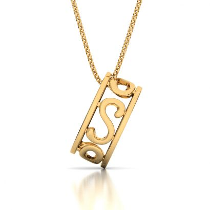 gold s initial pendants
