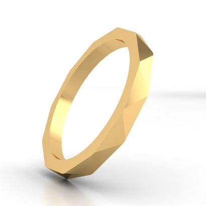Triangle Plain Gold Ring For Women