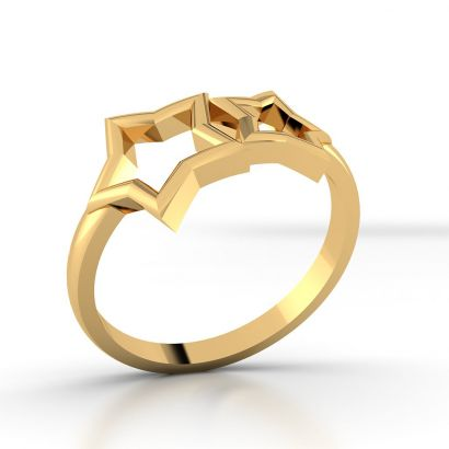 Twin Star Gold Ring
