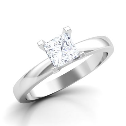 classic princess solitaire ring