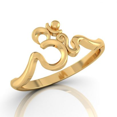 om gold ring- Ready To Ship