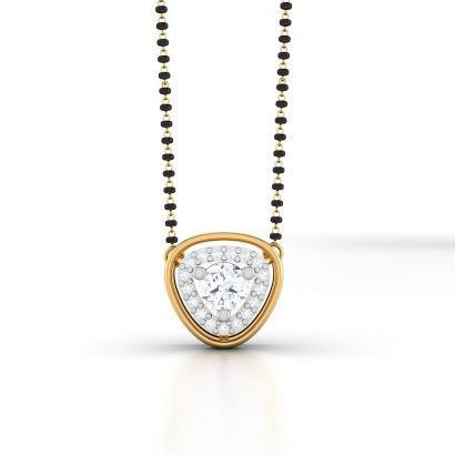 diane solitaire mangalsutra-Ready To Ship