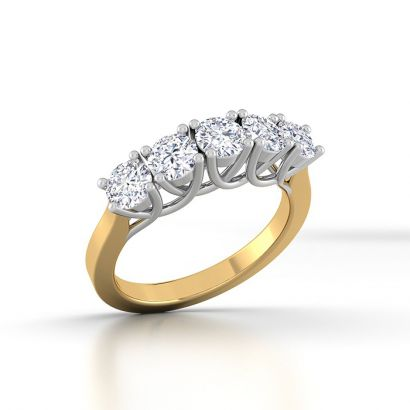 Five Stone Solitaire Ring