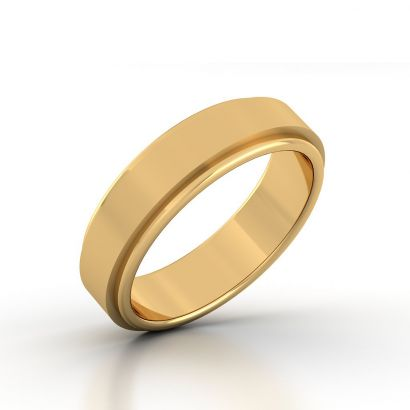 Plain Gold Ring For Men