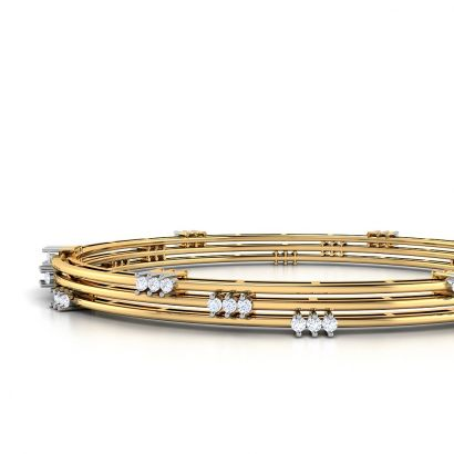 Track Diamond Bangle